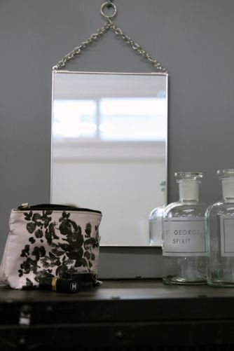 Wall Mirror on Chain