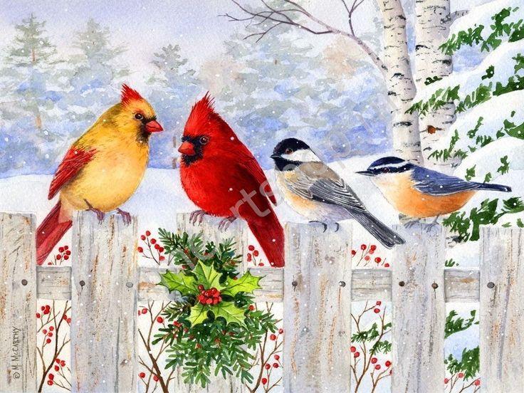 выбора картинки новогодние с птичками они вернулись