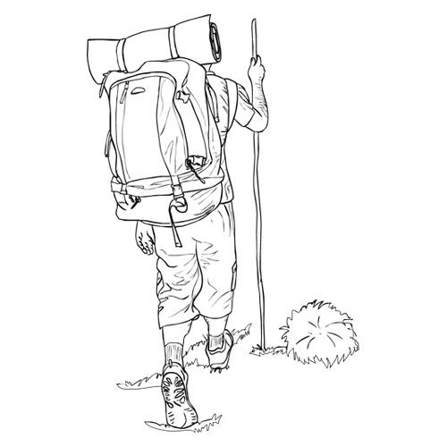 ilustraci u00f3n de peregrino del camino de santiago para