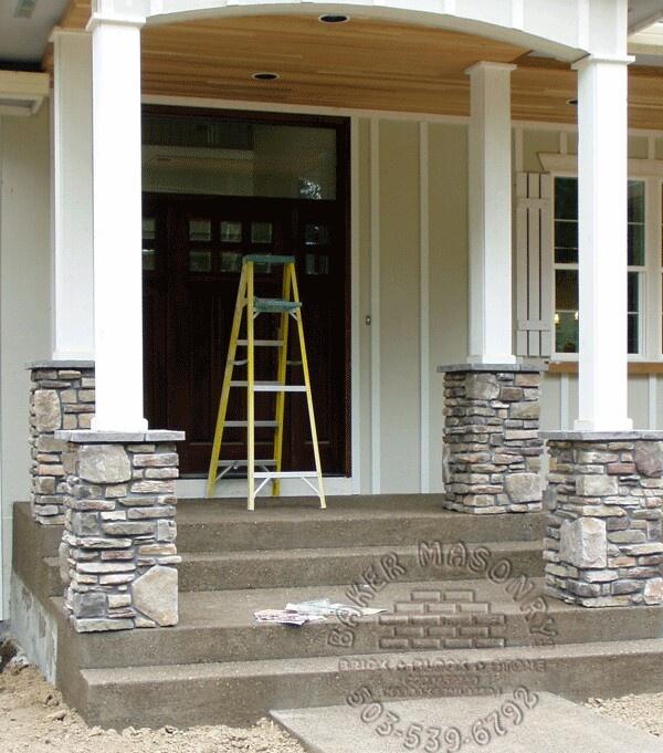 Stone Veneer Columns Baker Masonry Llc 503 539 6792
