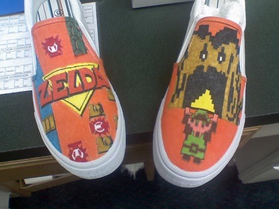 Amazing Products - Custom Painted Video Game Shoes Article
