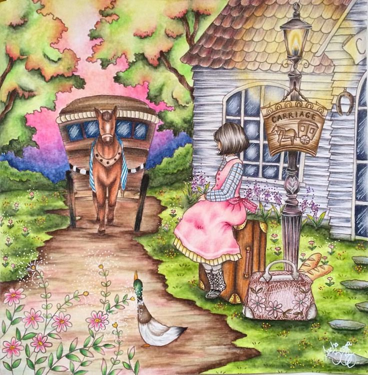 578 Best Images About Romantic Country Coloring Book