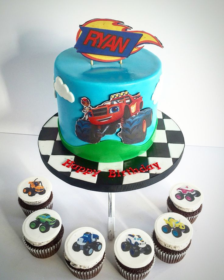 Blaze and the Monster Machines cake & cupcakes