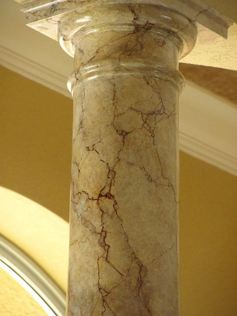 Painted Stone Pillars : Faux finishing marble painted columns and marbles