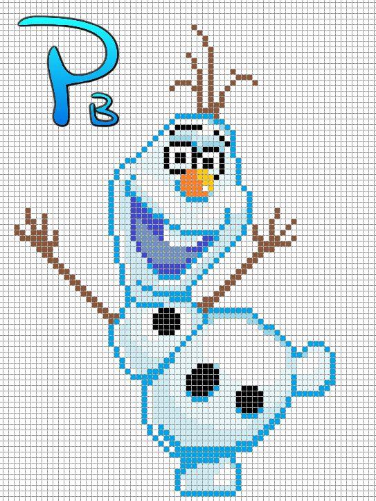 Knitting Pattern For Olaf From Frozen : Olaf Frozen perler pattern - Patrones Beads / Plantillas ...