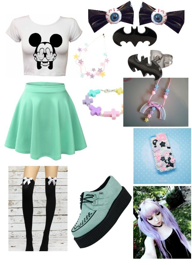 Just a pastel goth outfit I've made ^~^ #pastelgoth