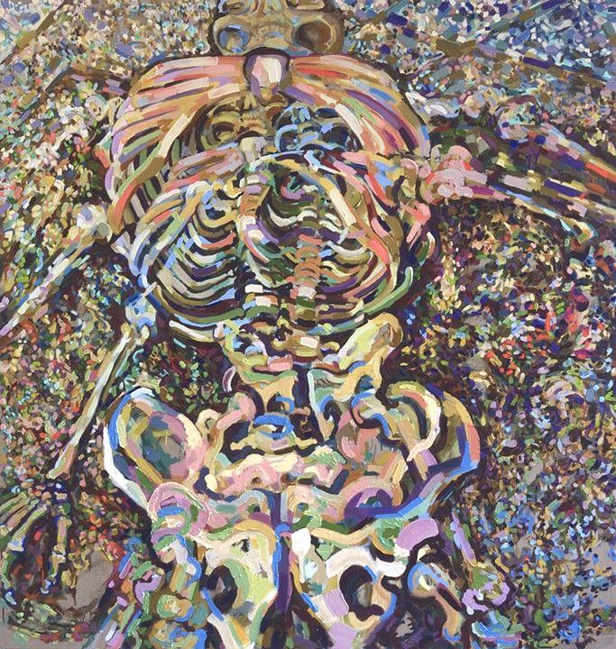 KC Tidemand. Triplopia, 2013, Oil on Canvas 71x67'' / 180x170cm