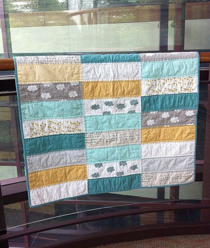 Baby quilt bliss  love this design  but I also love the colors for our living room