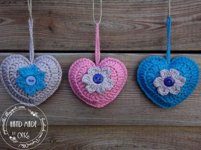 Crochet hearts. Szydełkowe serduszka.