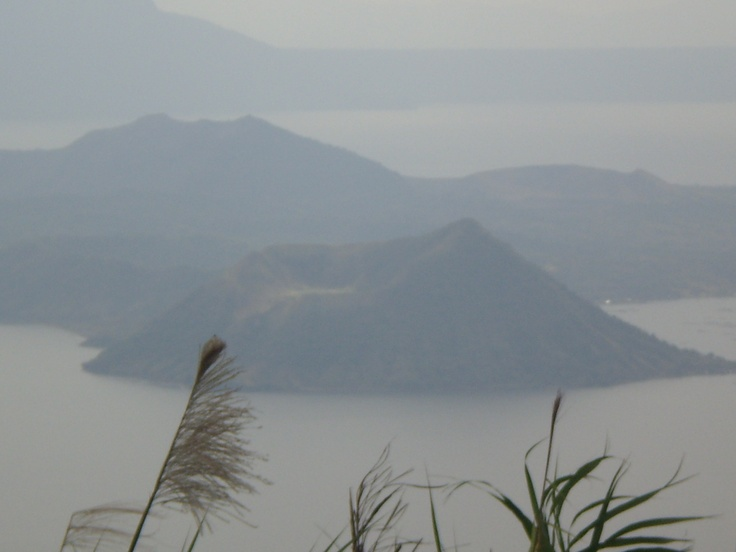At Josephine's Restaurant, you can see closely the Taal Volcano and Lake in Batangas City, Philippines.