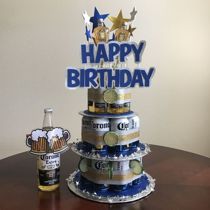 Handmade Beer Can Cake for the Man that loves his Corona's and Crown! This 3-tier beer can cake contains (2) 50ml Crown Royal small shots, (15) 12 ounce Corona Extra beer cans, (6) 7oz Corona Extra beer bottles & a bonus 24oz Corona Extra beer bottle with beer goggles. This Beer Can Cake was inspired by the men who LOVE cake, but only cake made of beer cans! *This specialty item is available for pick-up ONLY. Please message us on Easy or email VillaDesigns22@gmail.com for details.