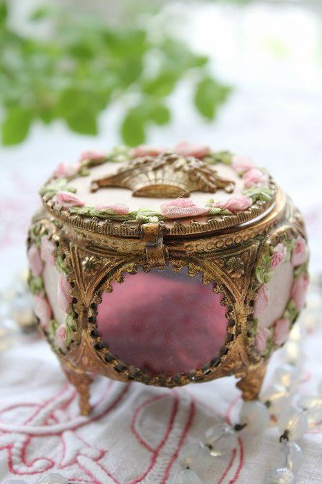 France, antique  jewelry box. Looks like the green one from Anastasia