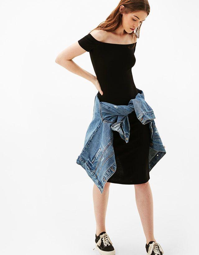 Bardot Ponte Midi Dress from Bershka £12,99