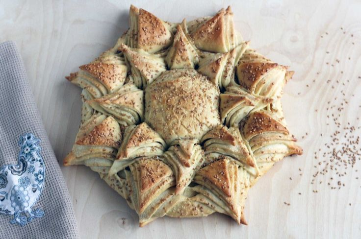 un pain en forme de tournesol :)