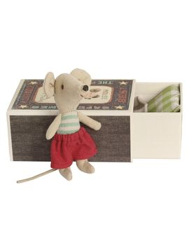 Little Brother Mouse in Box from Maileg Stuffed Animals & More on Gilt