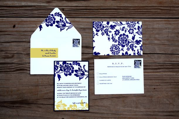 Blue And Yellow Wedding Invitations: 15 Best Images About Blue And Yellow Wedding Invitations