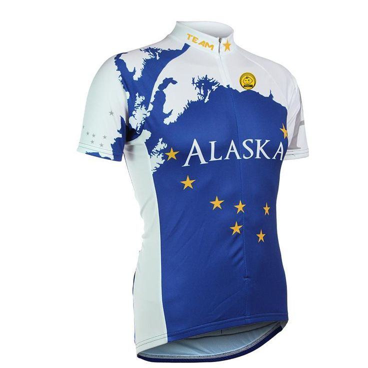 Men's Alaska Flag Blue Cycling Jersey [70% Discounts] – Online Cycling Gear