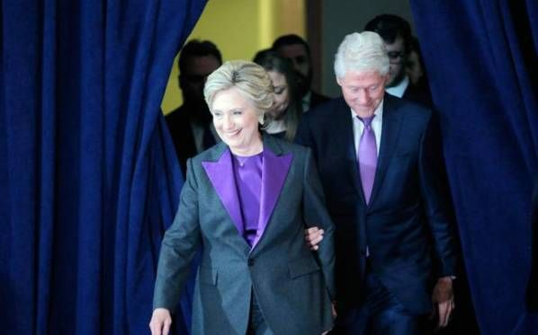 This Is Why Hillary And Bill Clinton Wore Purple In Her Concession Speech