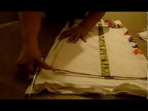 como cortar una blusa de manta marimur 277 - YouTube