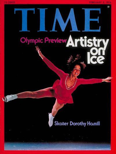 TIME Magazine Cover: Dorothy Hamill - Feb. 2, 1976 And that haircut! I loved her.
