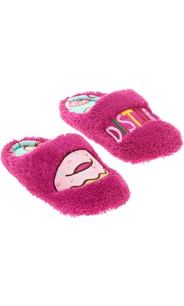 Donut Disturb Womens Pink Slippers Size Large 9-10
