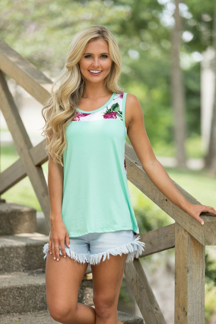 Hopelessly Devoted Tank Mint - The Pink Lily