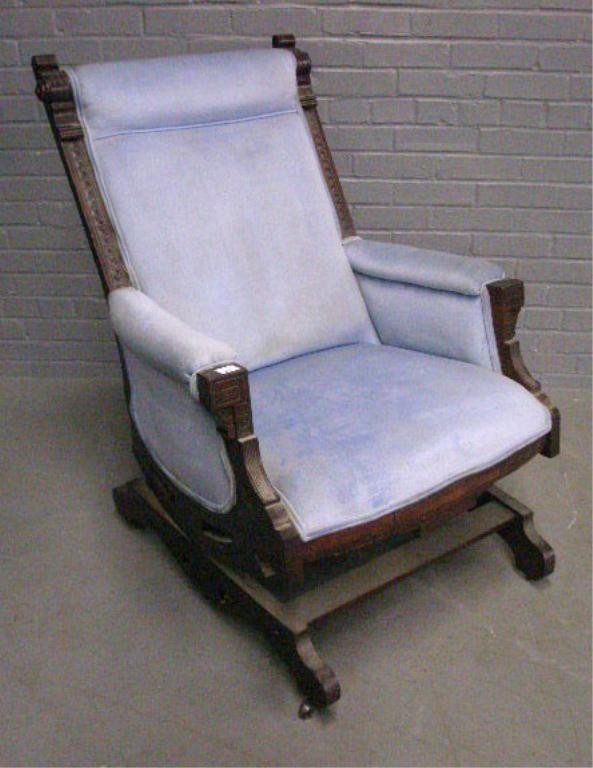 ... Eastlake Rocker on Pinterest  Upholstery, Rocking chairs and Black