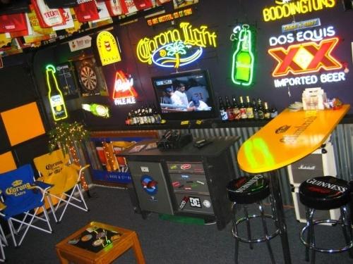 Man Cave Beer Bar : Beer sign man cave bar idea corrugated tin dark paint