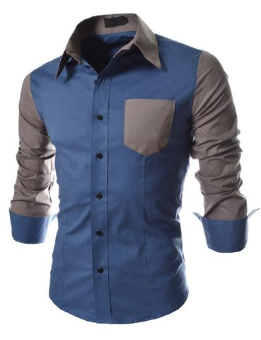 I'm really liking the new causal two tone button up shirts that they are coming out with. #mensfashion