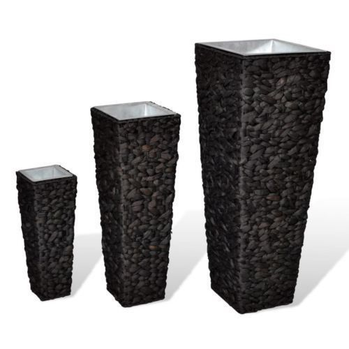 "Plant Pot Set of 3 Water Hyacinth Planter Rattan Woven Brown Patio Deck Porch. Use the coupon code ""PIN5"" to get 5% off your entire order!"