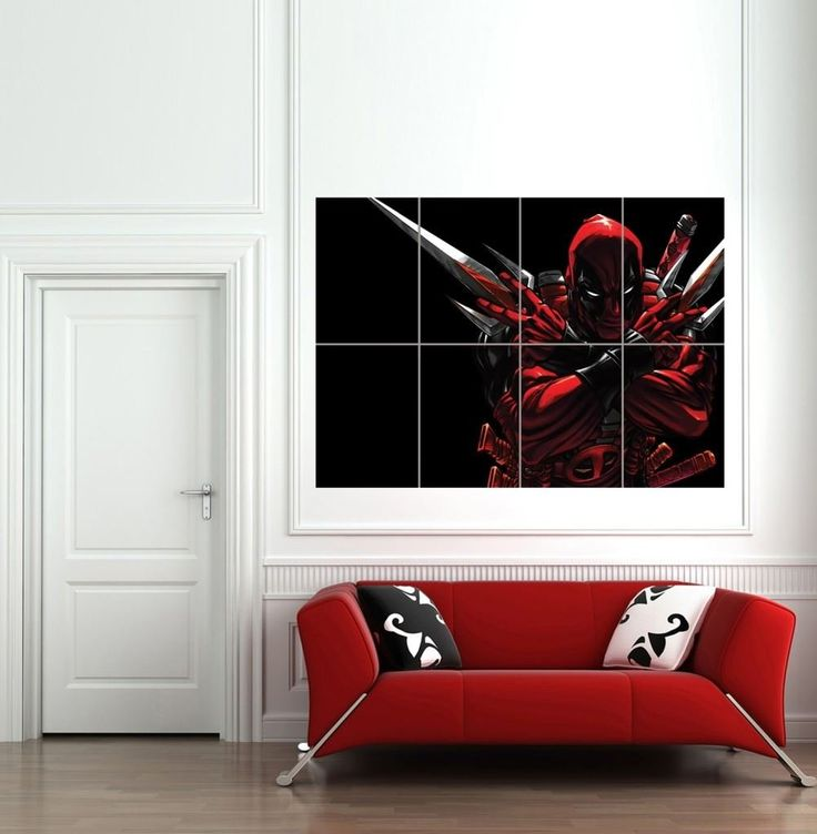 Deadpool giant wall art print poster b744 totally getting this for asa