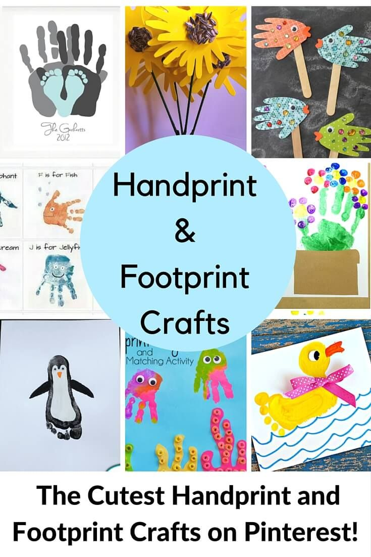 Handprint and footprint crafts are SO adorable! I think that we can all agree that anything our children make with their sweet little hands and feet qualifies as cute. Am I right? I have run across some of the most creative craft ideas featuring hand and footprints, so I thought I'd share them with you! …