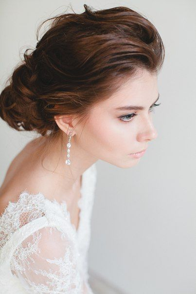 Make-up and Hair.  loveanddiamond.ru #weddinghair #curls #wedding #makeup #wedding #updo #hairstyle #weddingdress