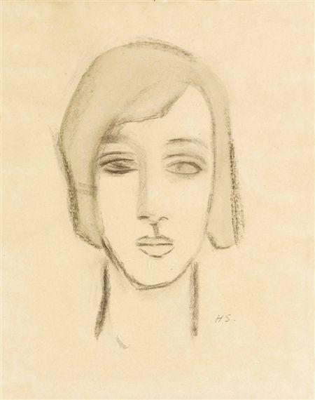 Helene Schjerfbeck, FLICKHUVUD