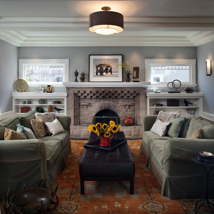 78+ Images About Craftsman Style Fireplaces On Pinterest