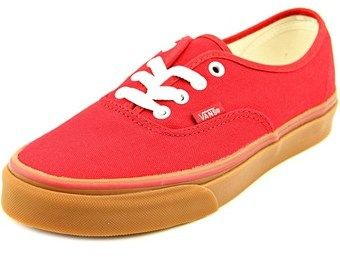 Vans Authentic Men Round Toe Canvas Red Sneakers.
