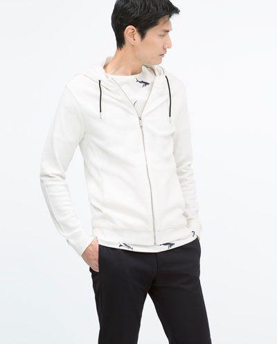 HOODED SWEATER-Sweatshirts-MAN   ZARA Hungary