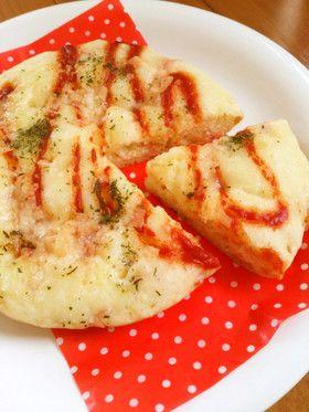 簡単ランチ☆炊飯器でふんわりピザパン。