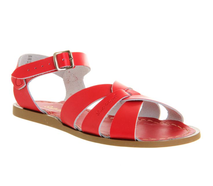 Buy Red Leather Salt Water Original Sandals from OFFICE.co.uk. £55