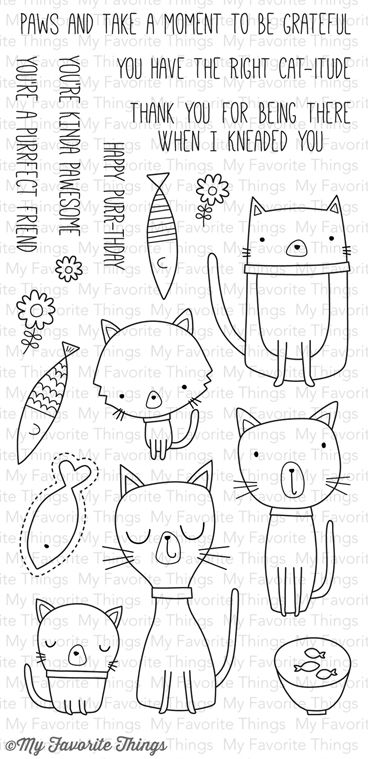 Cat-itude stamp set | My Favourite Things