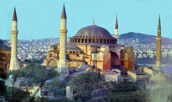 he Church of the Holy Wisdom , known as Hagia Sophia (Άγια Σοφία) in Greek, Sancta Sophia in Latin, and Ayasofya or Aya Sofya in...