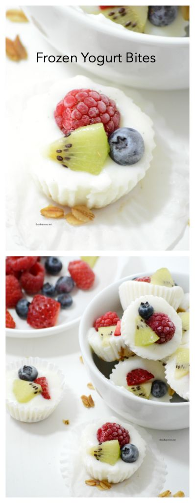Recipes| These Frozen Yogurt Bites are a simple, quick and healthy snack option that taste great! www.theidearoom.net