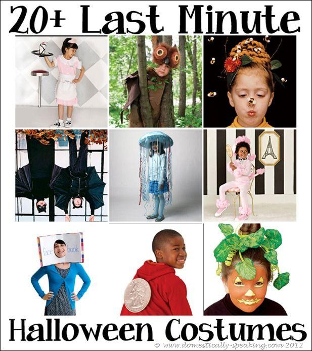 20 last minutes costume ideas - Last Minute Costume Ideas For Halloween