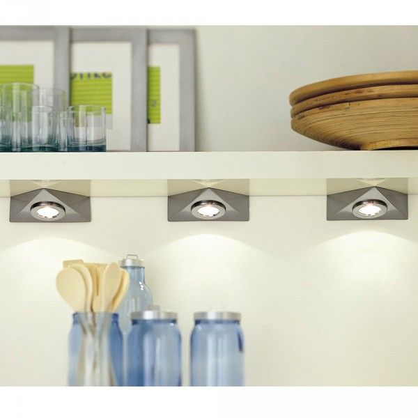 Lighting Delta Under Cupboard Set Of 3 - Matt Chrome from Litecraft
