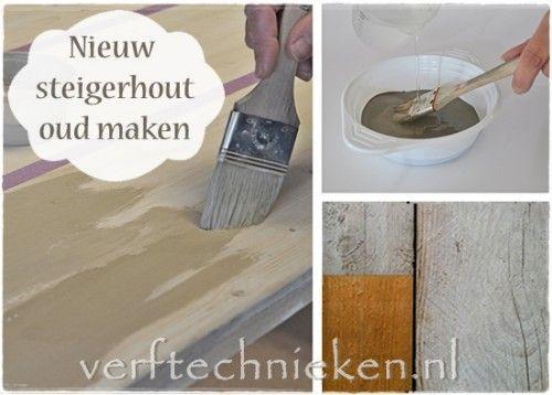 17 beste afbeeldingen over verf verven white grey wash en verftechnieken op pinterest - Hoe een verf kleur voorbereiden ...