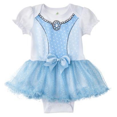 Disney® Newborn Girls' Cinderella Skirted Bodysuit - Blue