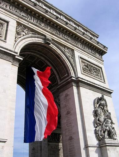 L'Arc de Triomphe, Bastille Day - à la fois les révolutions américaine et la France, a marqué un awat de décalage de la tyrannie et de conservatisme
