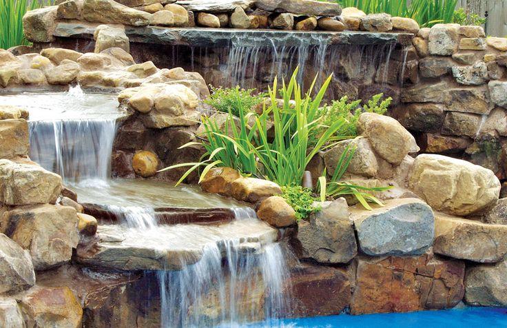 rock waterfall/plants