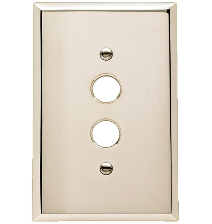 Lewis Single Push-Button Switchplate Hot-Forged Solid Brass