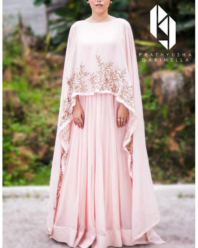 #capegown #blushpink #cape #pastel #palepink #prathyushagarimella @kalyanyasaswi